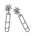 firecrackers loud icon doodle hand drawn or vector image