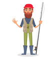 fisher cartoon character vector image vector image