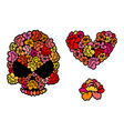Flower skull Love Heart of roses Beautiful flower vector image vector image