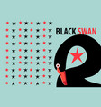 graphic with a portrait a black swan vector image