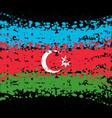 grunge blots azerbaijan background vector image vector image
