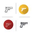 gun pistol icon vector image vector image