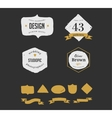 hand drawn hipster vintage retro labels and logo vector image vector image