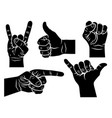 hand gestures 001 vector image vector image