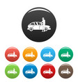hijacker icons set color vector image vector image