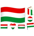 hungarian national flag in vector image vector image