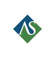 initial as rhombus logo design vector image vector image
