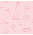 Junk food pink seamless pattern vector image