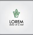 leafs logo vector image vector image