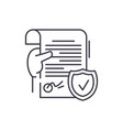 legal document line icon concept legal document vector image vector image