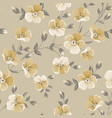 linum seamless pattern for fabric swatches vector image