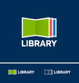 logo digital library electronic library logo vector image