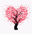love tree with many hearts vector image vector image