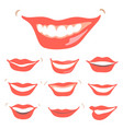 lovely smiles set vector image vector image
