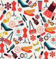 make up and beauty cloth and accessories vector image vector image