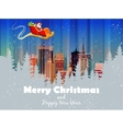 Merry christmas card Happy vector image vector image