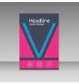Modern abstract brochure book magazine vector image vector image