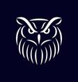 modern owl bird logo vector image