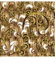 modern textured floral 3d russian seamless vector image
