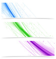 Modern web colorful bright banners collection vector image vector image