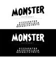 monster cartoon alphabet scary typeace typography vector image