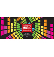 Music Free Trial 1500x600 Pixel Banner vector image vector image