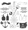 Nautical and sea elements vector image vector image