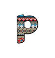 P letter small vector image