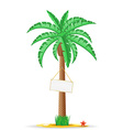 palm tree with sign 03 vector image vector image