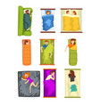 people sleeping set man and woman sleeping in vector image vector image