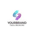s letter pixel multiply colorful logo design vector image