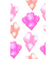 seamless cute pattern with multicolored pink vector image vector image