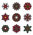 set of abstract damask ornamental designs vector image vector image