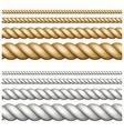 Set of ropes on white vector image vector image