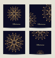 Set of square cards or invitations with mandala vector image vector image