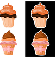 Set of sweet cakes eps10 vector image