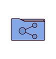 share file icon folder icon vector image vector image