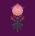 slavic folk traditional vegetable pattern element vector image