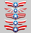 stars and stripes ribbon set vector image vector image