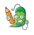 student peas character cartoon style vector image vector image