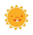 Sun funny cartoon graphic design vector image vector image