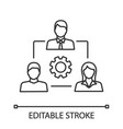 teamwork linear icon vector image