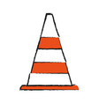 traffic cone icon vector image vector image