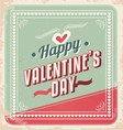 Valentines Day retro card design vector image
