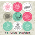 Vintage love pattern elements vector image vector image