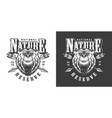 vintage monochrome national park emblem vector image vector image