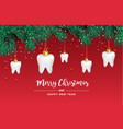white teeth icons in shape a christmas vector image vector image