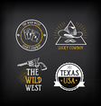 Wild west badges design Vintage western elements vector image vector image