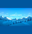 winter mountains landscape nature ice background vector image
