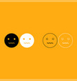 smiley it is white icon vector image